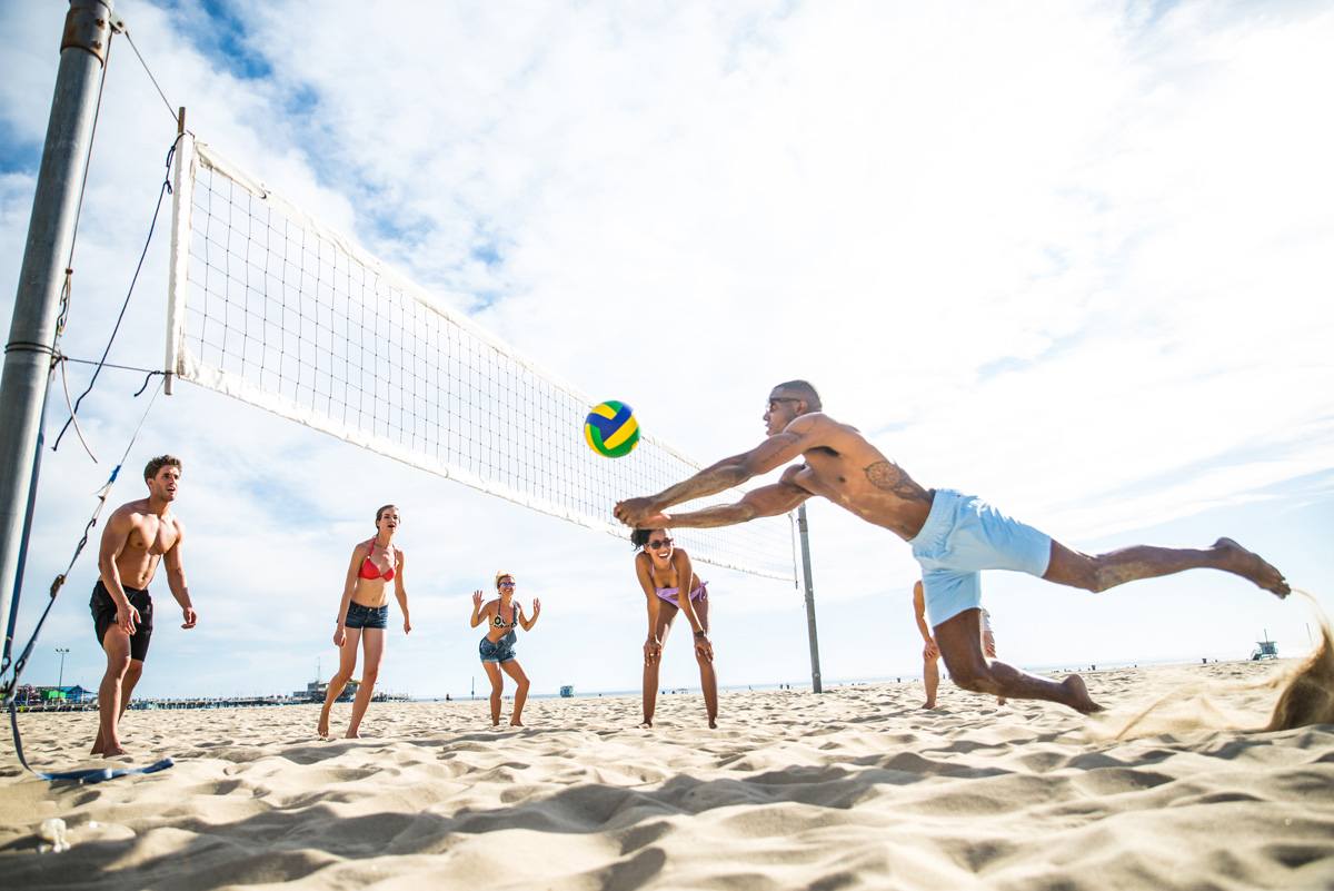 active San Diego volleyball