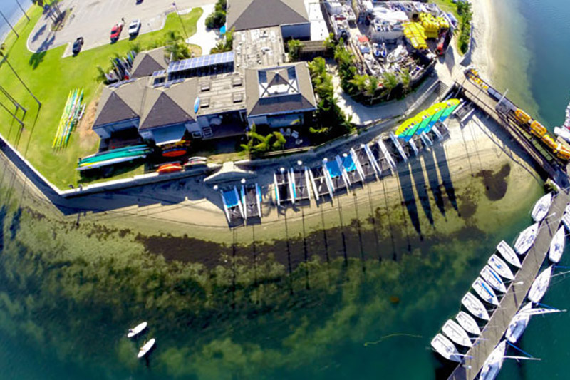 Arial view of Mission Bay Sportscenter